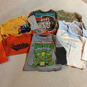 Baby boy Long Sleeve T-shirt and Onesie Bundle